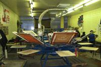 Шелкографическая печать на клубной одежде