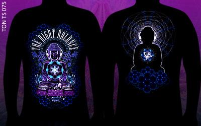 Психоделическая флюро футболка